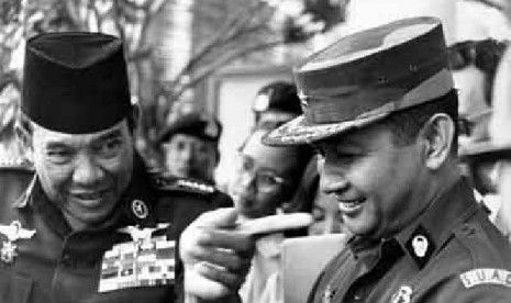 Mr. Soekarno (The First President Republic of Indonesia) and Mr. Soeharto (Second President Republic of Indonesia)