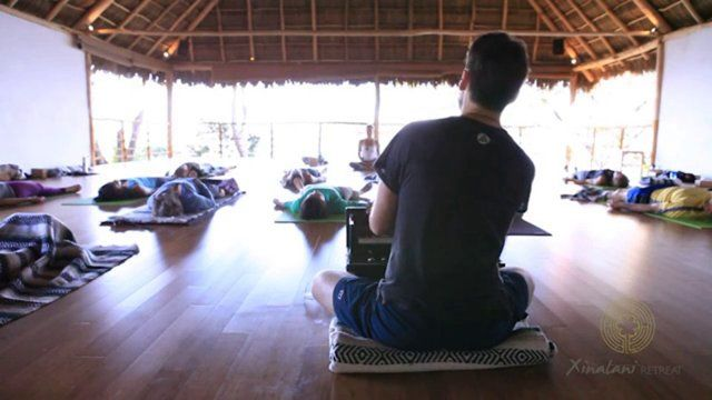 #Savasana - Morning energizing yoga at our flagship Jungle Studio. Time for a Retreat with Jen Hecht and Matt Newman