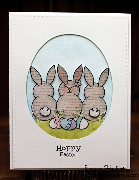 Easter Bunny Card by Larissa Heskett   Bunny Hop Stamp set by Newton's Nook Designs