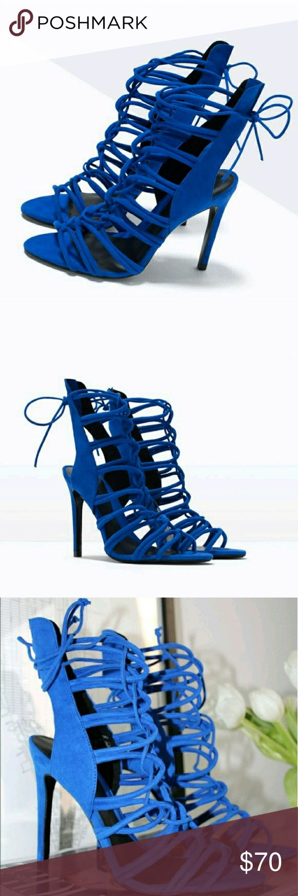 Best 25  Blue strappy heels ideas on Pinterest   Turquoise heels ...