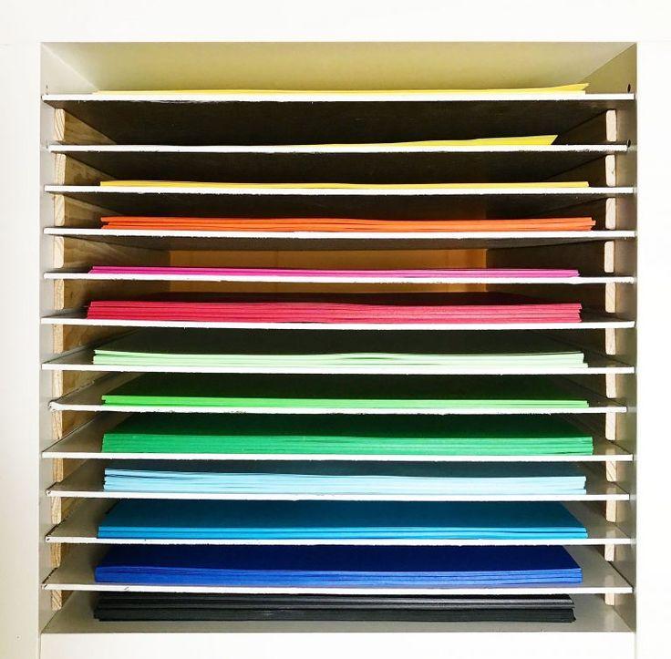 12x12 paper storage diy vertical organizer for scrapbook paper craft room final draft. Black Bedroom Furniture Sets. Home Design Ideas