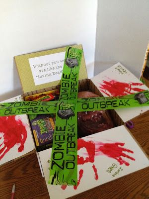 """Deployment Care Package: The """"Living Dead without You"""" version. Zombie Care Package ideas"""