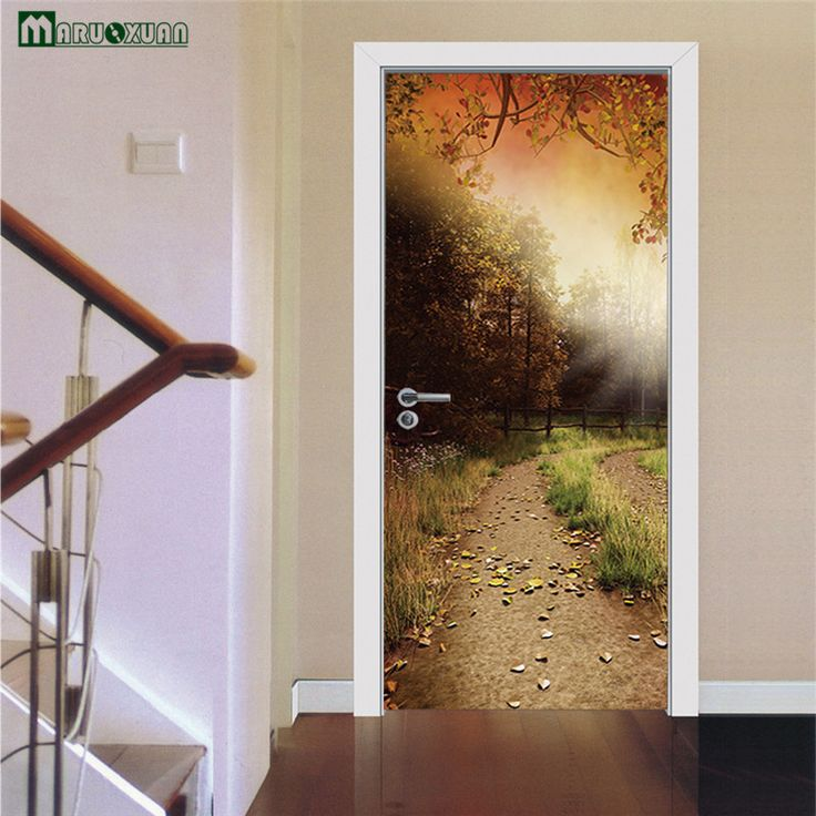 Cheap stickers living Buy Quality wall sticker directly from China decorative wall stickers Suppliers Maruoxuan Door Stickers Pastoral Scenery Stickers ... & 17 best door wall sticker images on Pinterest   Door wall Murals ...