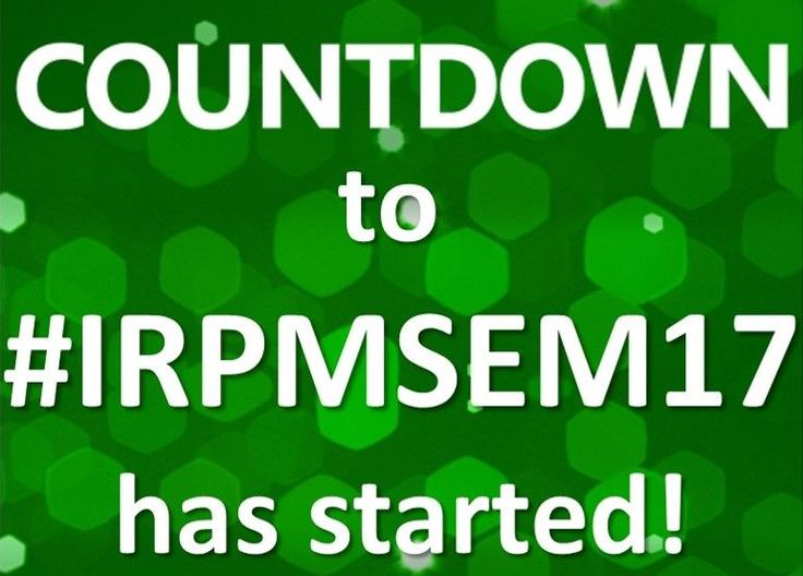 Countdown to the 2017 IRPM Annual Seminar has started! #IRPMSem17 #soldout #fullybooked #waitinglist http://buff.ly/2qRZquh