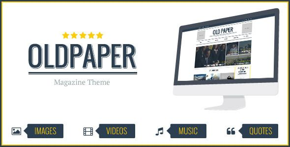 OldPaper - Ultimate Magazine & Blog Theme   http://themeforest.net/item/oldpaper-ultimate-magazine-blog-theme/7431822?ref=damiamio       OldPaper is a REVOLUTIONARY Magazine Design Concept for any kind of creative or business use. Built upon the responsive Twitter Bootstrap framework, the theme is highly optimized for both mobile and desktop platforms. Animate CSS give awesome look-and-feel loading and page scrolling effects. With SEO and FAST LOADING in mind, we'v optimized all codes…