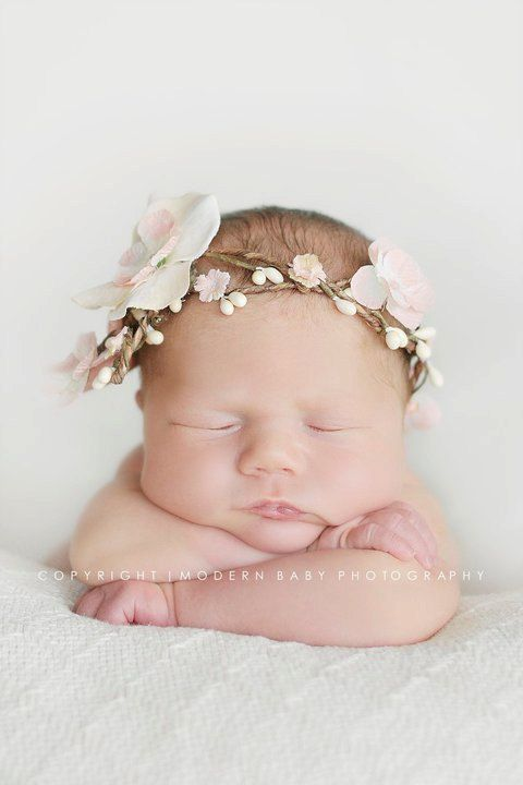 milk & peaches newborn band by motifcaprice on Etsy, $40.00