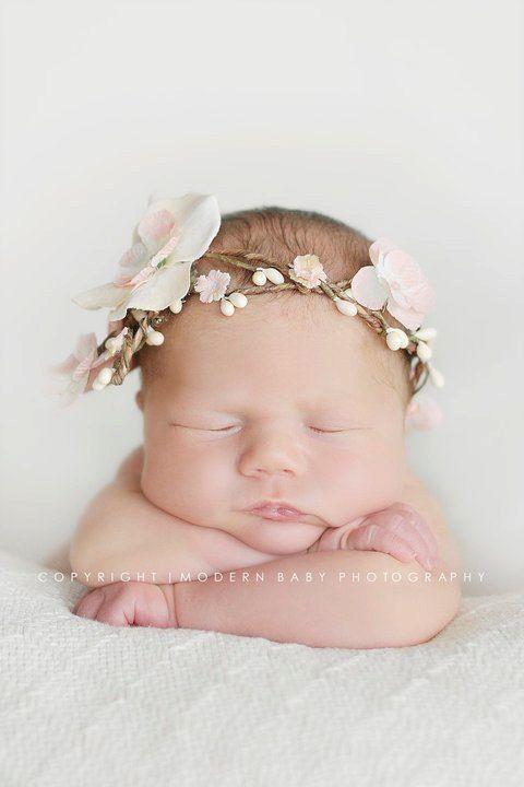 milk & peaches newborn band