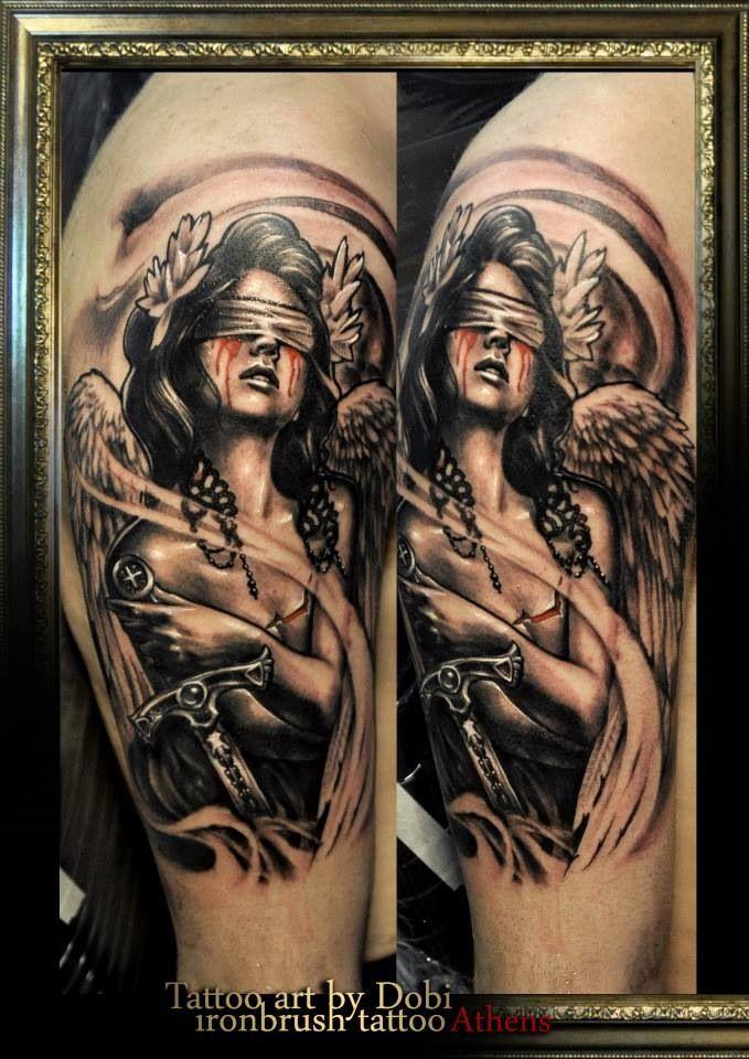 My brand new tat by Dobi @ IronBrush studio :) #tattoo # ...