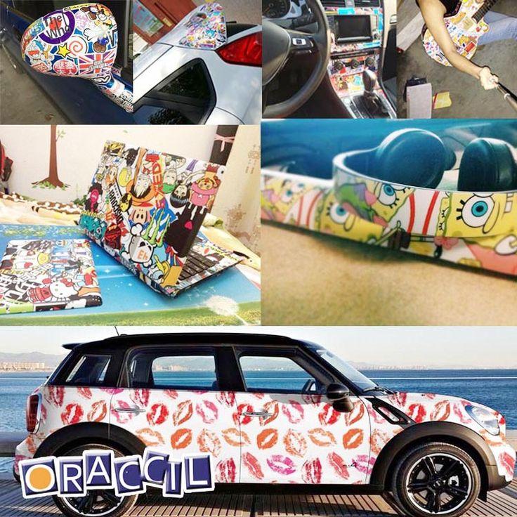 pas cher hot vente 150 cm x 50 cm 20 x 60 personnalis graffiti autocollants autocollant. Black Bedroom Furniture Sets. Home Design Ideas