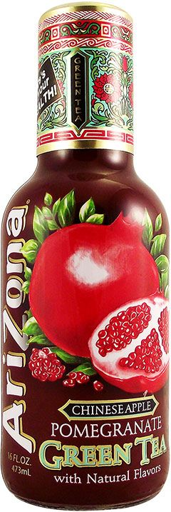 Buy Arizona Green Tea with Chinese Apple Pomegranate 16 FL OZ (473ml) | American…