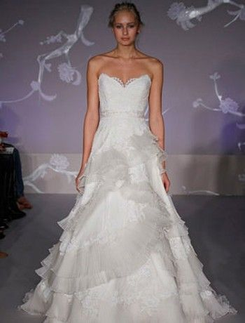 Bridal gowns lazaro a line wedding dress with sweetheart for Lazaro a line wedding dress