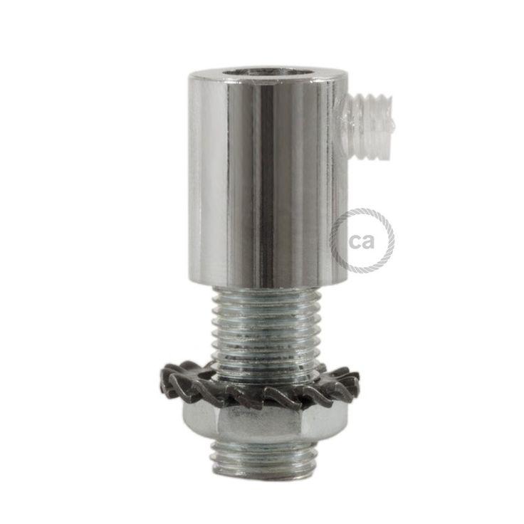 Chromen afwerking metalen design trekontlaster met schroefdraaf, moer en ringetje.