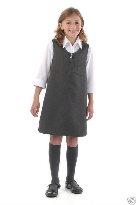 Girls School Uniform Pinafore  Preschool  School Uniform -7598