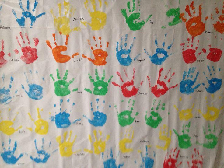 Printing-class display. Junior infants