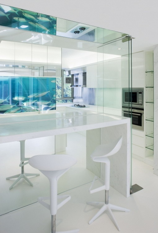 80 best images about ultra modern kitchens on pinterest for Ultra modern apartment