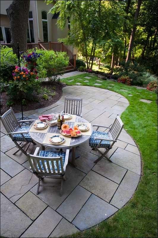 49 best pretty patio stone images on pinterest | landscaping ... - Patio Shape Ideas