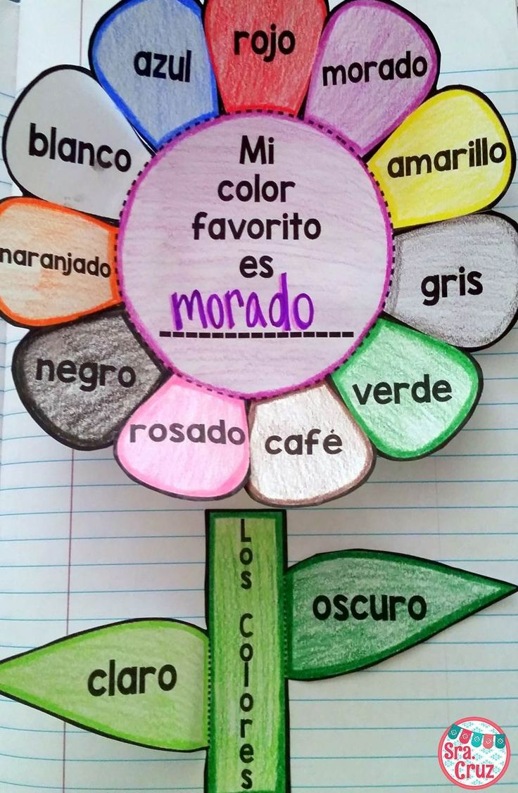 Spanish colors for preschool - Spanish Interactive Notebook Activity Los Colores
