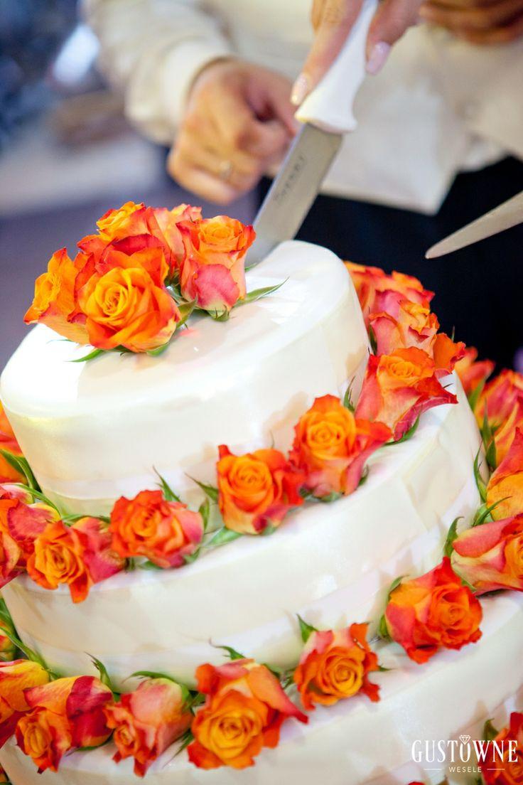 Pomarańczowy tort weselny / Orange wedding cake