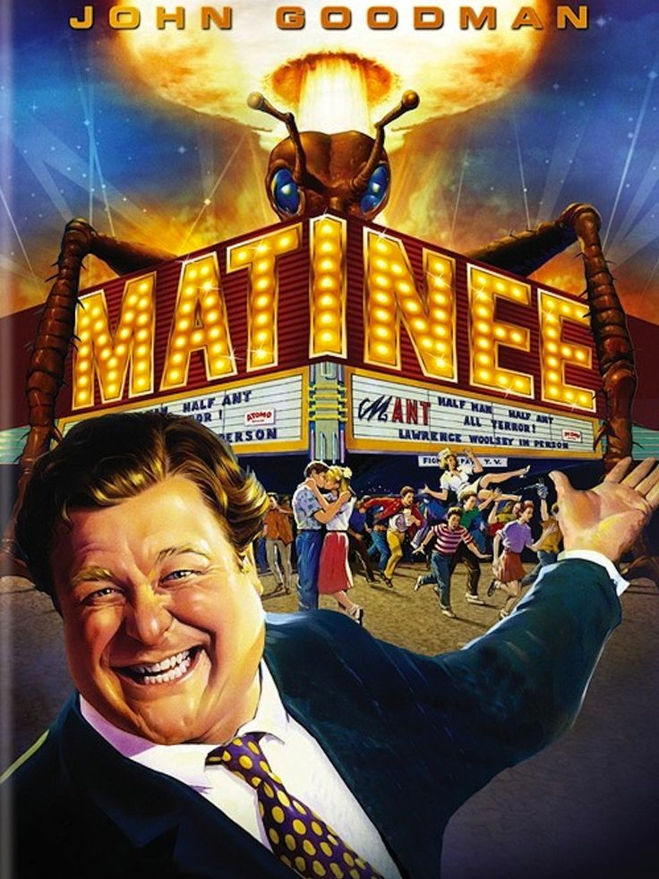 Matinee is a 1993 comedy film directed by Joe Dante (Burying the Ex;Trapped Ashes; Gremlins; The Howling; Piranha) from a screenplay by Jerico Stone (My Stepmother Is an Alien) and Charlie Haas (G…