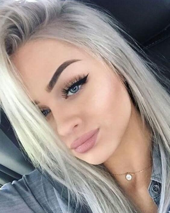 If You Have Blue Eyes And Want Them To Stand Out Try Going Granny Grey Fairskin Haircolor Hairfashion Blondehair