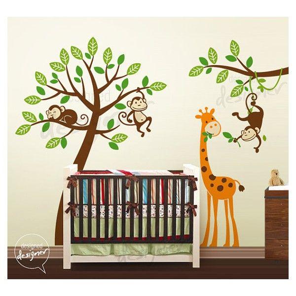 De muursticker boom met apen en giraffe bevat:- Boom / lijfje aap (kies 1 kleur),- Gezichten van apen en buiken (kies 1 kleur)- 1 Giraffe (kies 1 kleur)- Bladeren (kies 2 kleuren)- Test sticker,- Plakinstructies .Afmetingen: Volledige tekening: 335 cm x 257 boom afmetingen: 257 cm hoogte x 224 cm breedteKies de kleuren voor de muursticker in het tekstvlak onderaan deze pagina. Gebruik de kleurenkaart in de afbeeldingen.