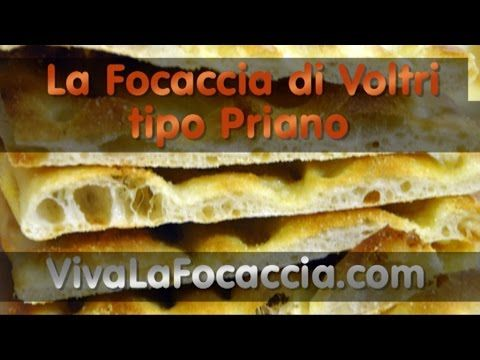 Video Ricetta Focaccia di Voltri (tipo Priano) - YouTube