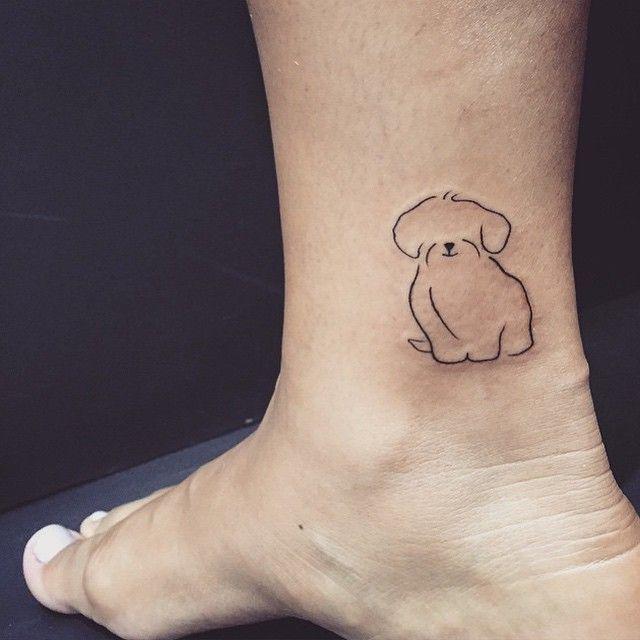 Image Result For Minimal Shih Tzu Tattoos Pomysły Na