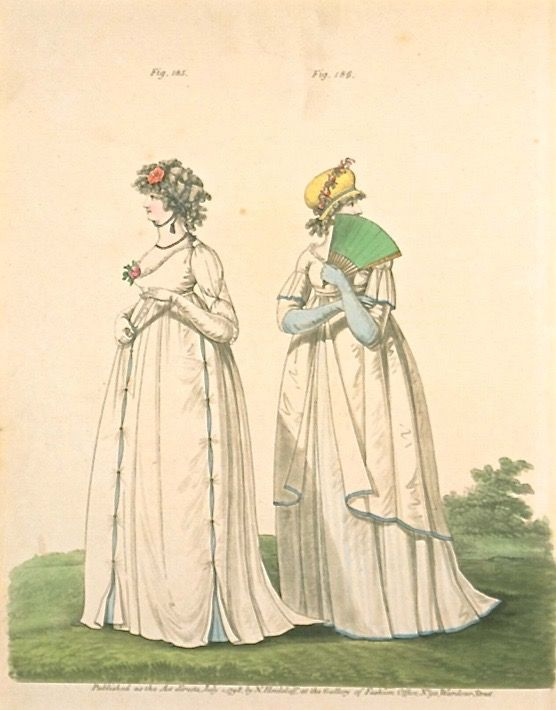 Afternoon Dresses, July 1798, Gallery of Fashion