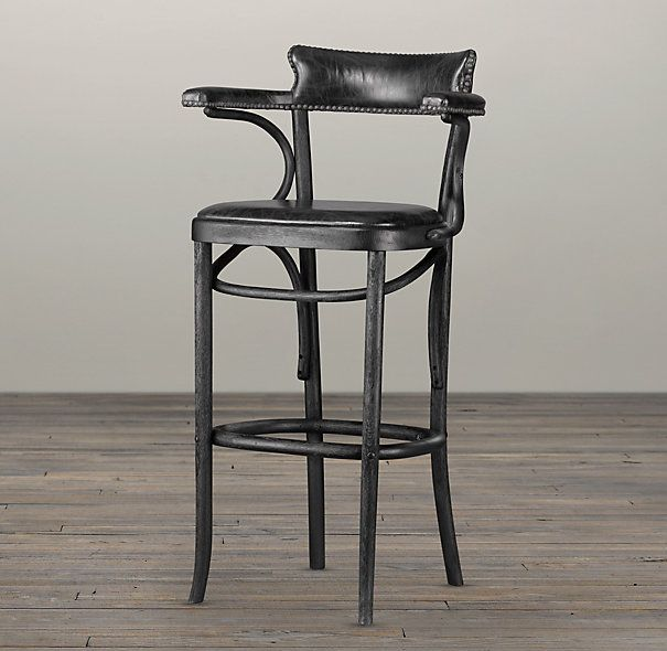 Vienna Cafe Barstool Slate Leather 299 Special 249