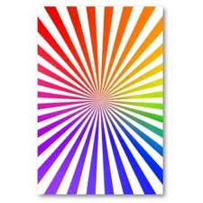 Radial balance- Radial balance is defined as a certain design that radiates or moves out away from a center point. This image represents radial balance because the colorful lines are radiating out from the middle point of the picture.