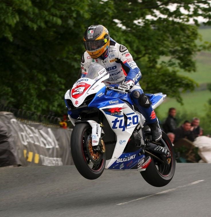Guy Martin - Isle of Man TT Festival 2012. Fantastic shot - clear  air over Ballaugh Bridge. Anyone who is not on the Isle of Man this week is really missing out.  Check out Radio TT or IOM TT to catch up on the action.
