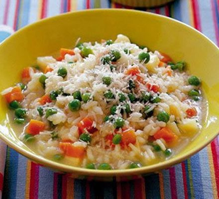 Disguise vegetables and make this healthy veggie risotto for kids