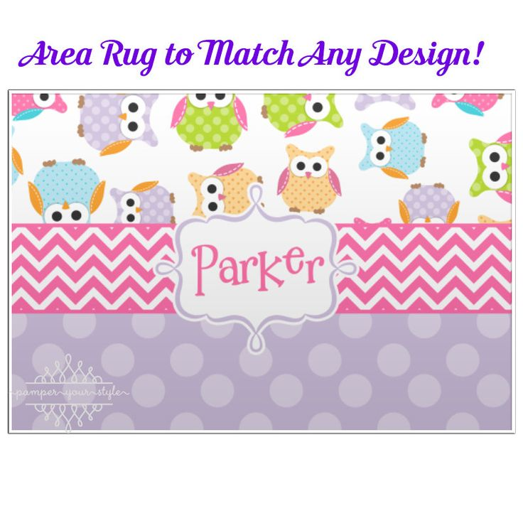 Personalized Owl Bedroom Rug - Personalized Custom Rug  - Custom Rug designed to Match your Decor by PAMPERYOURSTYLE on Etsy