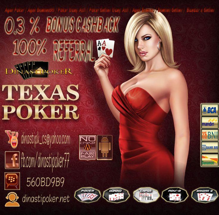 Kami dari agen poker online uang asli indonesia ingin mengajak anda untuk  bergabung bersama kami di dinastipoker.net menunjukan skill anda dalam bermain poker online apakah anda cukup handle dalam bermain poker online? di sini kami menyediakan 5 permainan yang dapat anda mainkan dengan 1 akun id dan 1 website  yakni poker online , dominoQQ, Capsa susun , BandarQ,dan  AduQ #PokerOnline #DominoQQ #BandarQ #CapsaSusun #AduQ