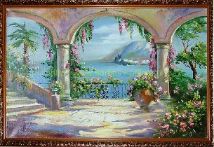 На берегу моря - Средиземноморье <- Картины маслом <- Картины - Каталог | Универсальный интернет-магазин подарков и сувениров
