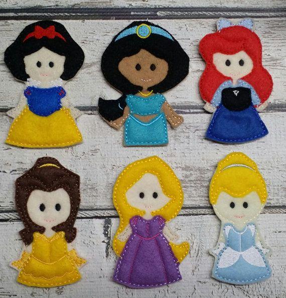 Marionette da dito Princess Set feltro di TreasuredForever su Etsy