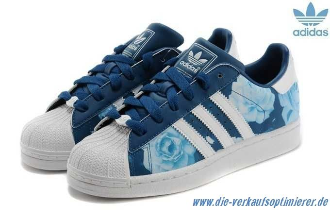 Adidas Superstar Damen Weiß Blau