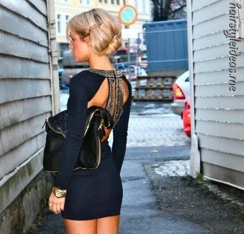 .: Black Dresses, Clothing, Dream Closet, Cute Dresses, Hairs, Navy Dresses, The Dresses, Open Back, Back Details