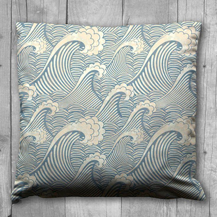 blue wave cushion by karen miller @ devon driftwood designs | notonthehighstreet.com