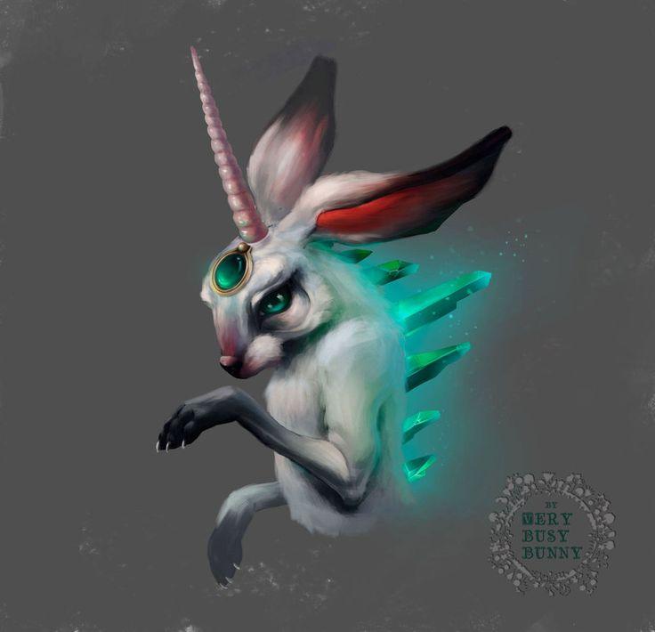 Bunny by very-busy-bunny  #bunny #digitalart #digitalpainting #rabbit #sketch #art