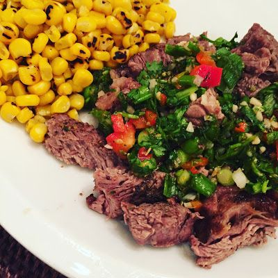 Grilled Ribeye Steak + Chimichurri Salsa with Simply LKJ - Dixie Delights