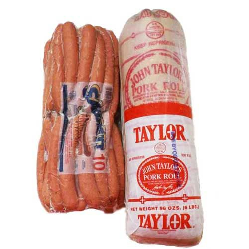 5 Pounds of delicious Sabrett Natural Casing Hot Dogs and 5 Pounds of Taylor Pork Roll Taylor Pork Roll [ JerseyPorkRoll.com ] #recipe #food #delicious