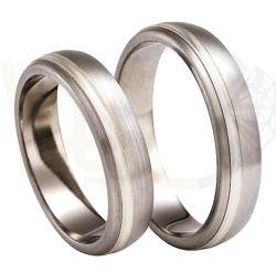 Obrączka z tytanu i srebra / Wedding rings made from titanium and silver / 518 PLN / #wedding #weddingtime #weddingrings #jewellery