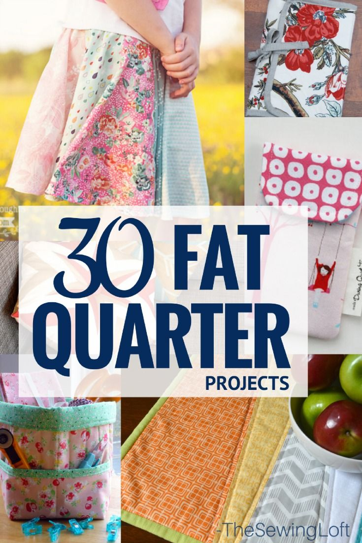 Looking for your next sewing project? Check out this line up of fat quarter friendly sewing projects. They are quick and easy to make.
