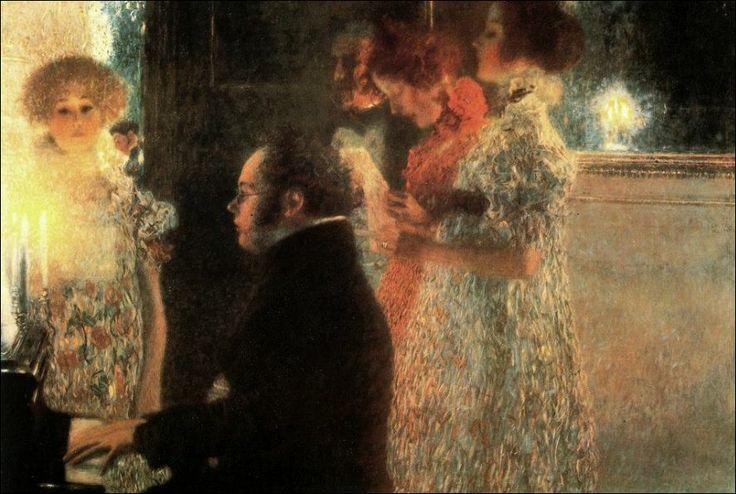 """Shubert al piano"" - Gustav Klimt"