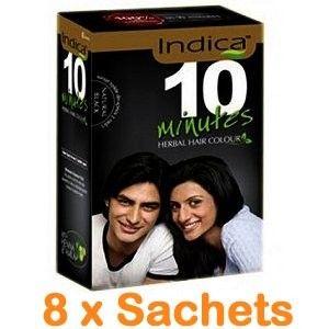 Indica 10 Minute Heena & Amla Herbal Hair Dye Natural Black Color