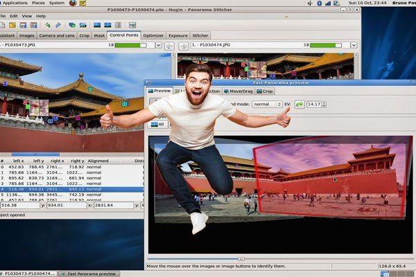 افضل برنامج تصميم صور Hugin دنيا التقنية برنامج تعديل الصور Stitcher Places Exposure