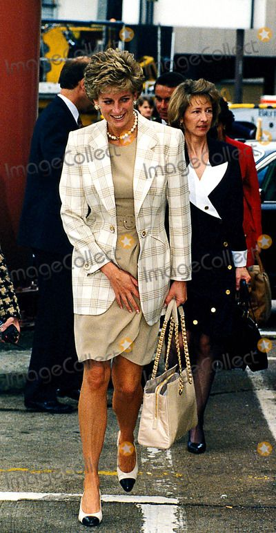 14 June 1995 Princess Diana at London Heathrow Airport 06/14/1995 Photo: Dave chancelor