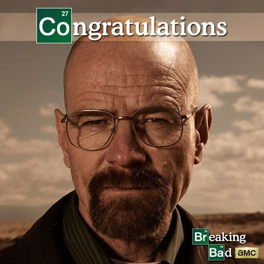 Photo: All hail the king. Congratulations Bryan Cranston, on your Emmy win!