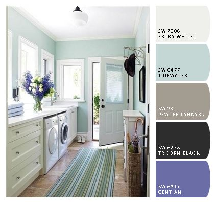Laundry room paint colors for the home pinterest for Painting ideas for small laundry room